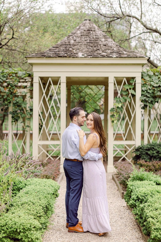 Engagement Photos in Old City Philadelphia at 18th Century Garden