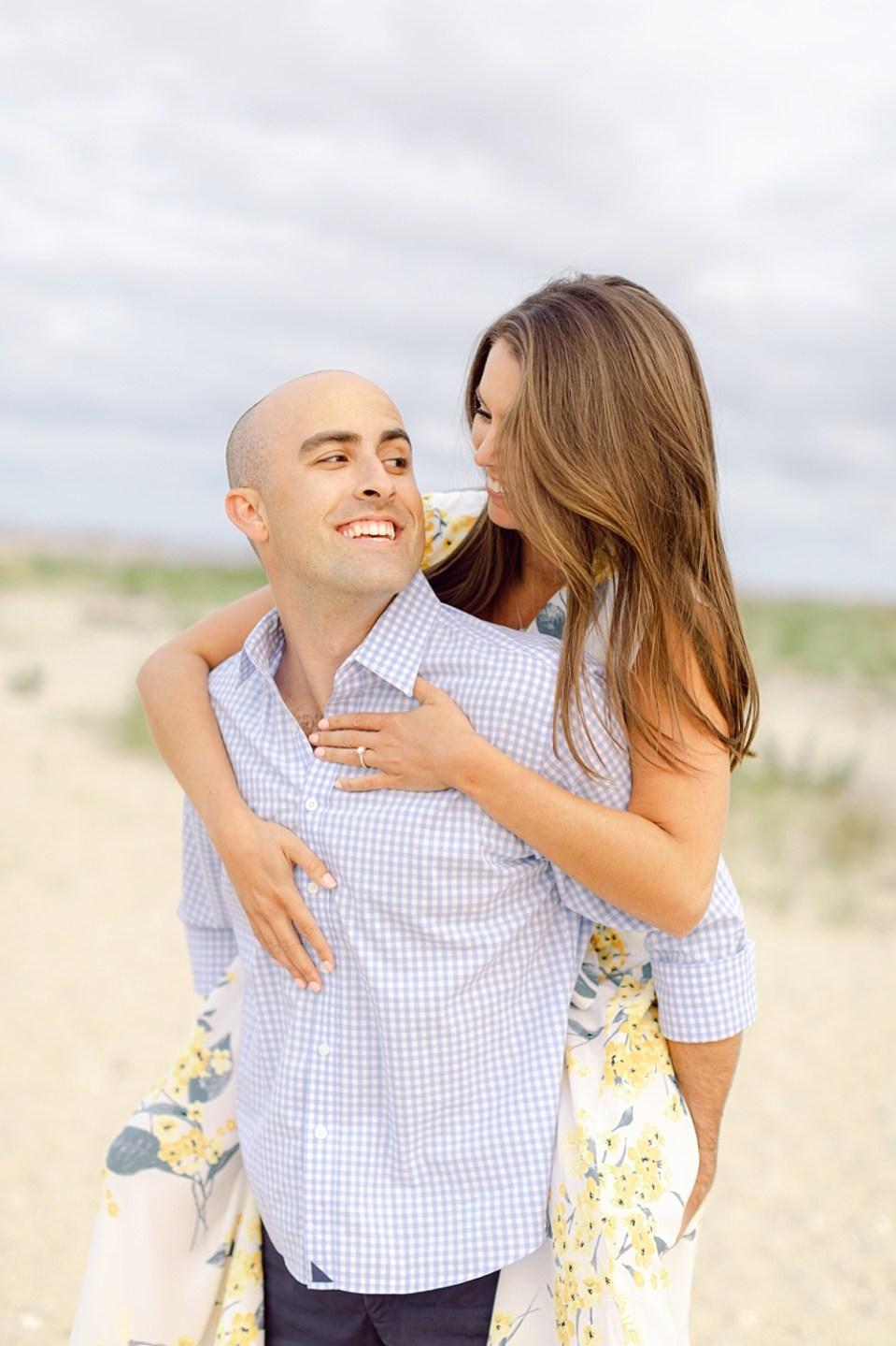barnegat lighthouse engagement photos | new jersey wedding photographer sarah canning