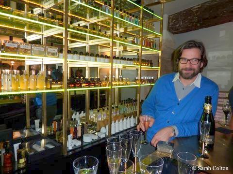 David Frossard (Owner) Tending Bar