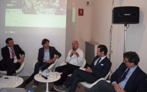 Panel members included from left to right: François Hénin,, Philip Hillige, Roja Dove, Nicolas Cloutier, and Silvio Levi