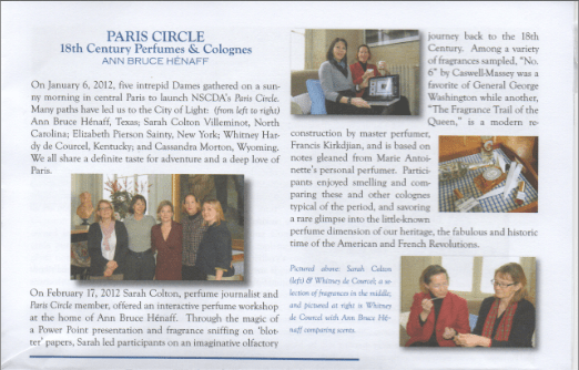 Colonial Dames Paris Circle Workshop Writeup