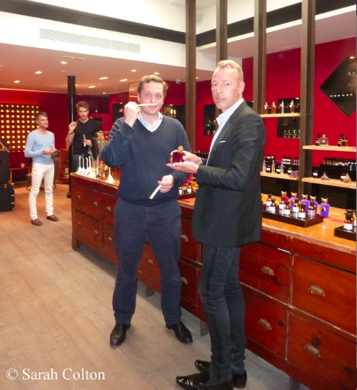 A year ago Robert Gerstner, co-owner of Aedes de Venustas, was here with François presenting the first fragrance of the brand, Aedes de Venustas (created by Bernard Duchaufour) with its unusual rhubarb vetiver accord.