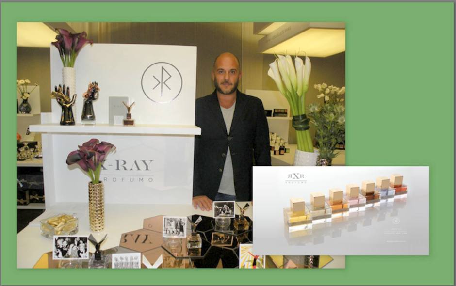 Ray Burns at the X-Ray stand at Pitti Fragranze 2013