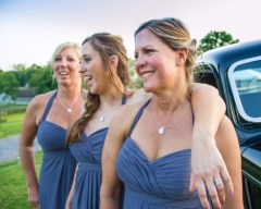 "Beautiful Bridesmaids wearing our ""Organic Pearl Necklace""!"