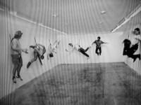 7 artists, 1995, digital video, black and white, sound,1' (still da video)
