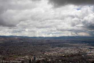 Bogotá seen from Montserate - One hell of a city!