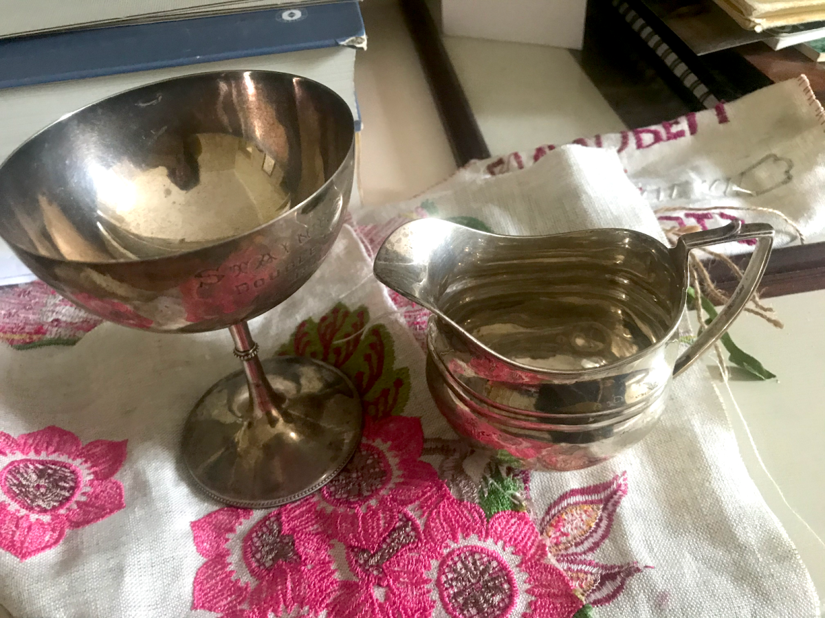 A silver cup and a silver milk jug, heirlooms, will be the focus of the MELTDOWN project