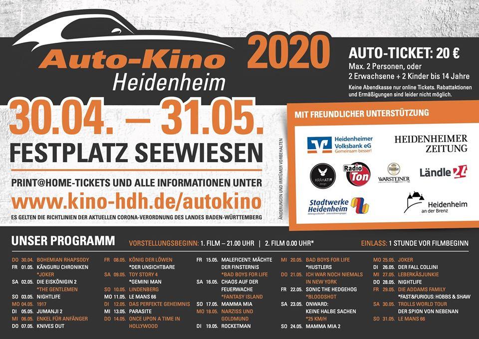 Autokino Heidenheim Programm
