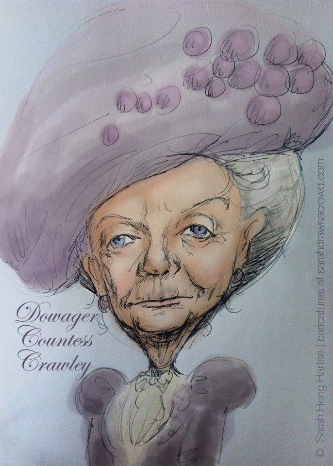 Downton Abbey Dowager Countess Violet Crawley, played by Dame Maggie Smith