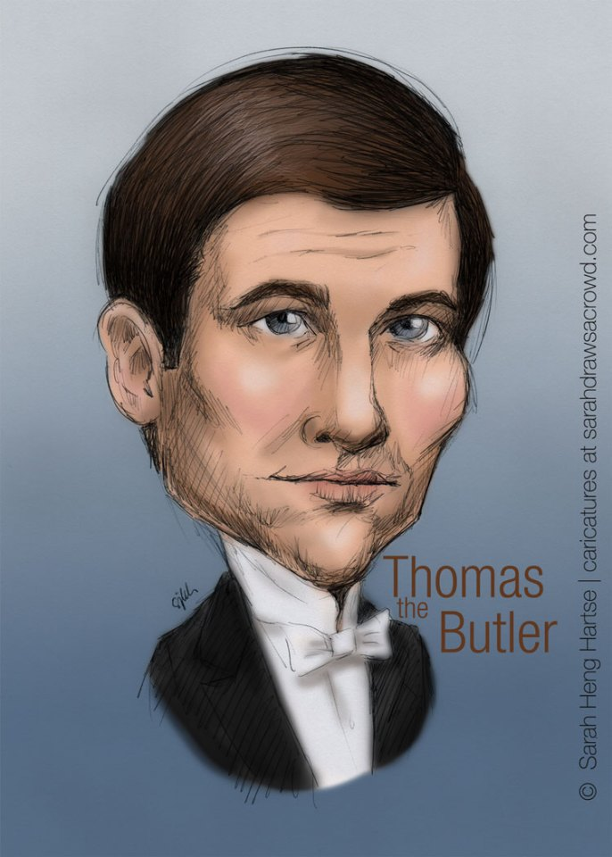 "Downton Abbey's ""we love to hate"" butler Thomas Barrow, played by Rob James-Collier"