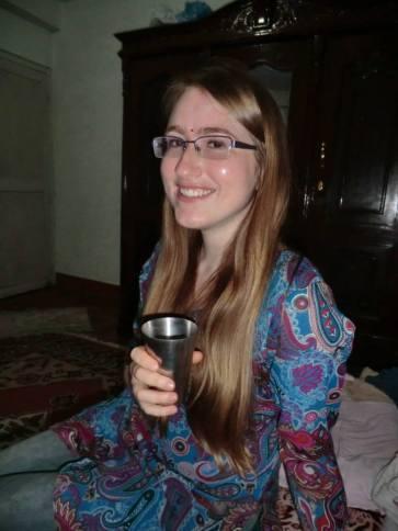 Me drinking chiya in Nepal!