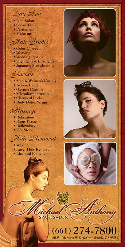 Michael Anthony Spa & Salon third page ad