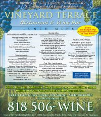 Vineyard Terrance Restaurant full page ad
