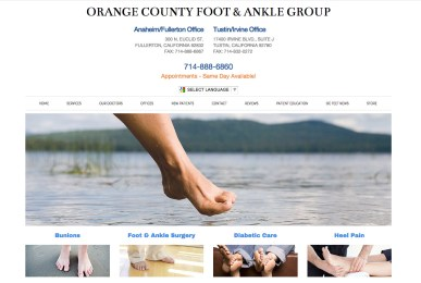 Orange County foot & Ankle Group website