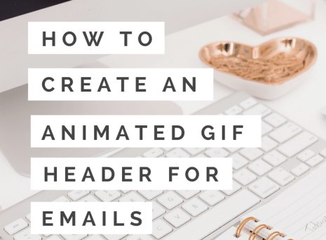 How to Create an Animated Gif Header for Your Newsletter