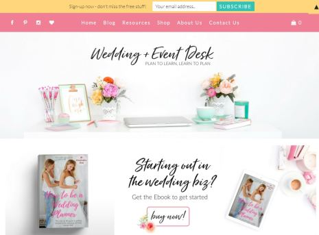Wedding and Event Desk Website