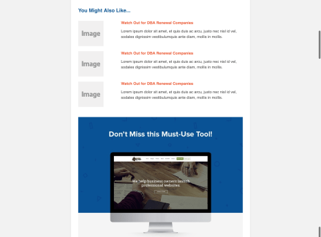 Hubspot Email Templates for Incfile