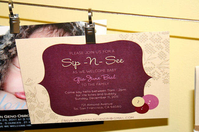 Sip-N-See Invitation