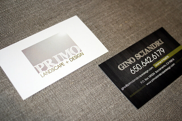 Primo Landscape and Design Business Cards