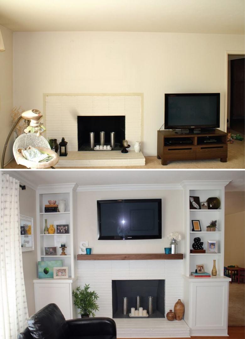 livingroom remodel fireplace
