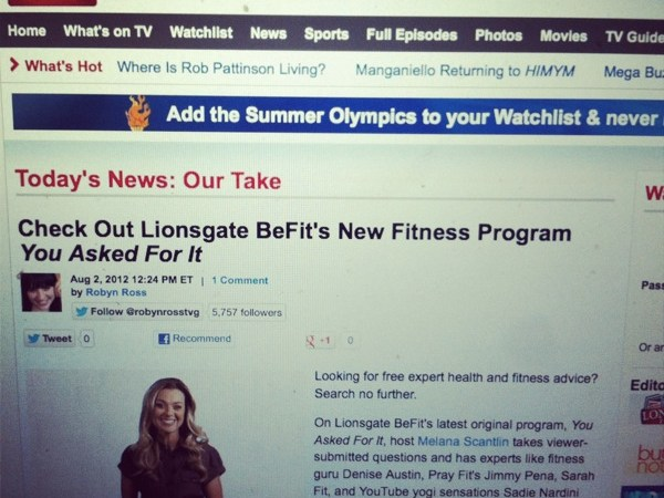 My TV Guide Debut: Strength vs Cardio Days