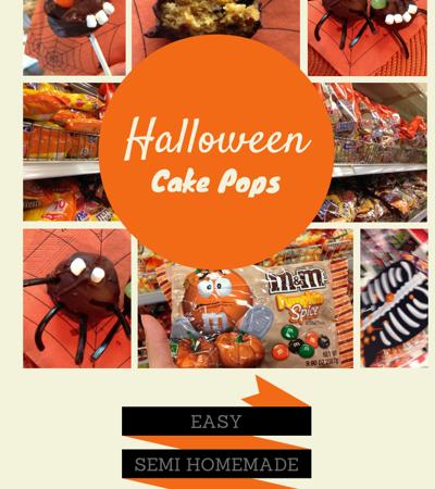 Halloween Cake Pops, Semi-homemade easy DIY recipe
