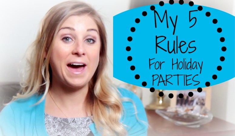 My 5 Rules for Navigating Holiday Parties | Healthy Holiday Eating Tips