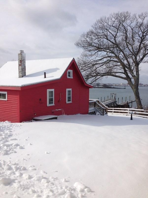 Maine Snow Peaks Island