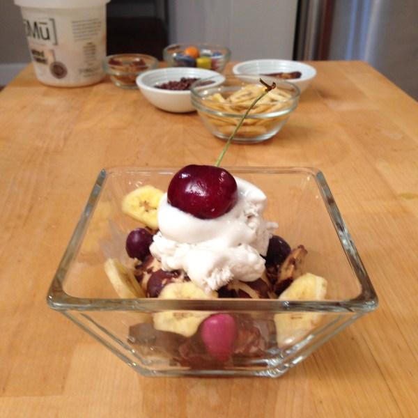 Toppings Ice Cream Vegan Sundae
