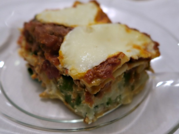 Lasagna freezer meal after baby