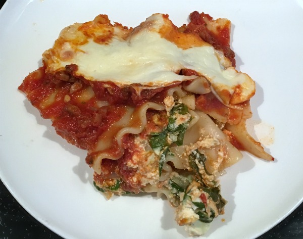 lasagna freezer meal for after baby