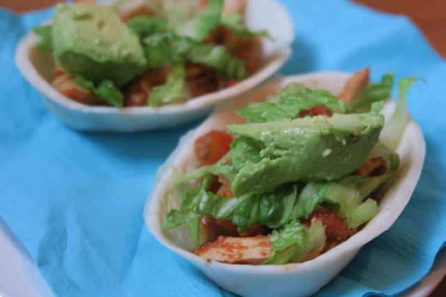 Game Day Salsa Chicken Mini Taco Boat Recipe