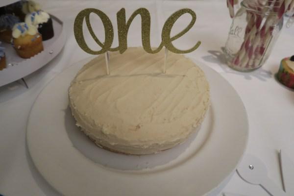 One Year Old Organic Birthday Cake