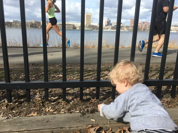 Tommy along Charles River Playground