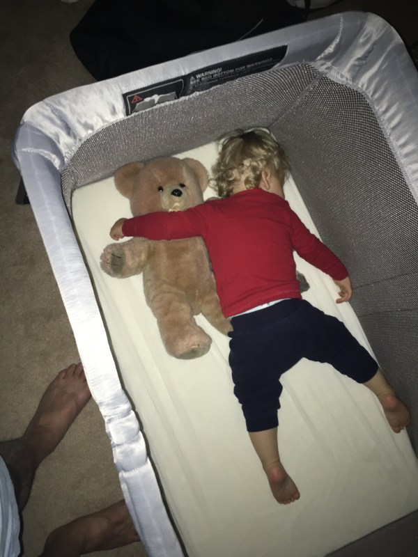 Tommy Sleeping in Pack n Play