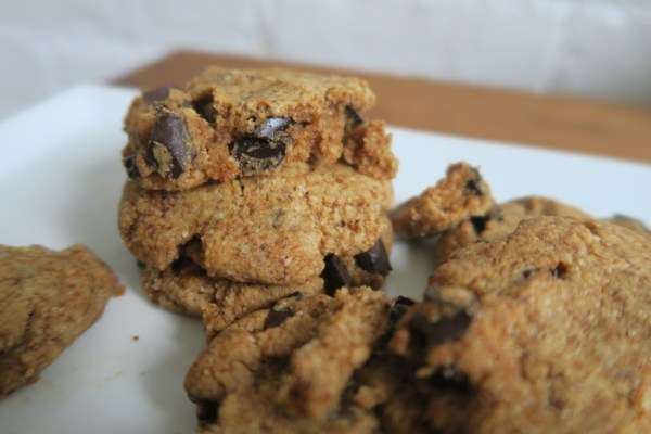 The Best Chocolate Chip Cookie Recipe made with coconut flour, coconut sugar, almond flour, coconut oil and almond butter.