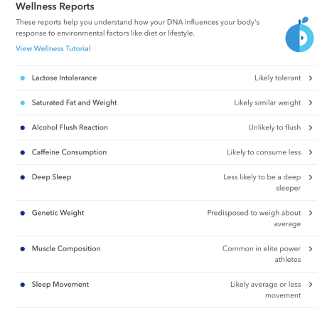 Wellness Report 23andMe review