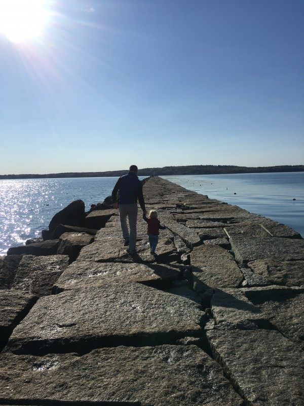 Breakwater in Rockland Maine