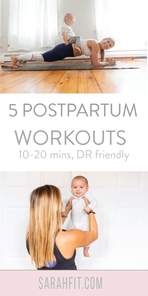 postpartum workout diastasis recti friendly at home core challenge