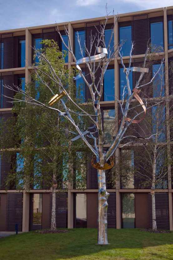 The Alchemical Tree detail by Simon Periton 2015 ROQ University of Oxford Image by Edmund Blok