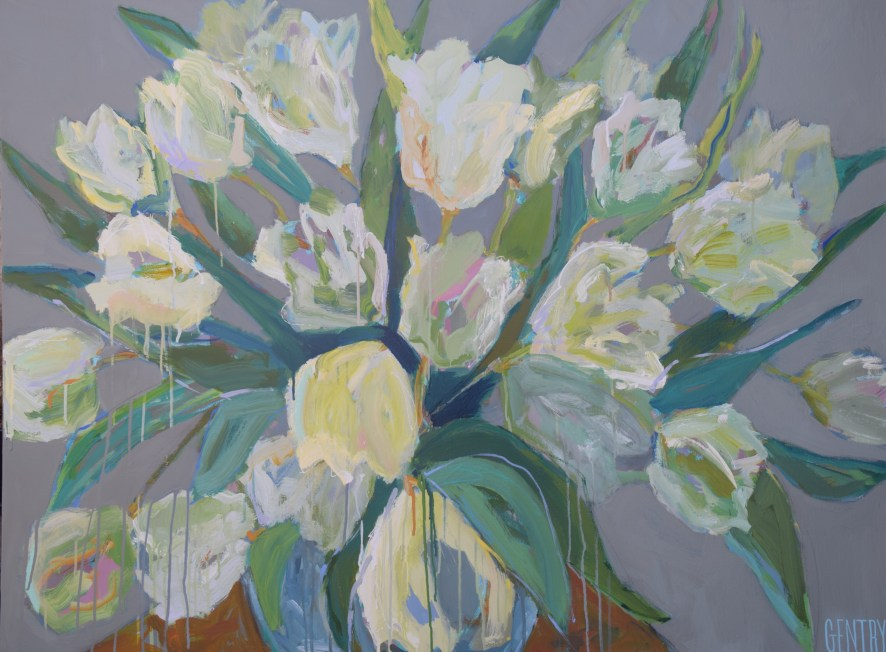 "*Dripping Through the Tulips 36""x48"" SOLD"