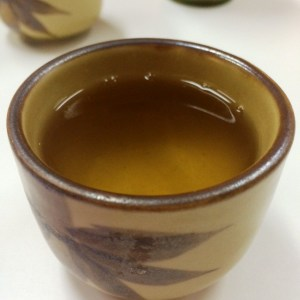 A delicious cup of osmanthus oolong tea.