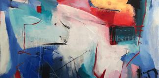 Morning in Alphabet City Manhattan New York contemporary abstract fine art painting by Sarah Gilbert Fox
