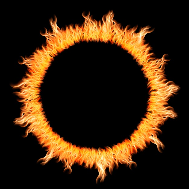 realistic round light fire flame ring 52683 30571 - Leave the Circus outside the Circle