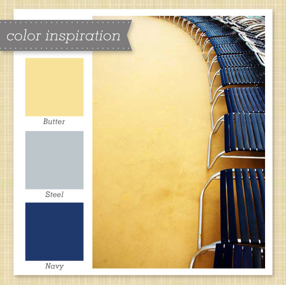 Yellow, Gray and Navy Color Palette 15 - Sarah Hearts