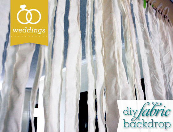 Diy Fabric Wedding Banner Backdrop Sarah Hearts