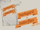 """""""Backyard of Butterflies"""" shirt design for Owl City"""