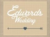 Simple rustic wedding signage