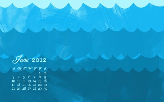 free june 2012 summer wallpaper with calendar