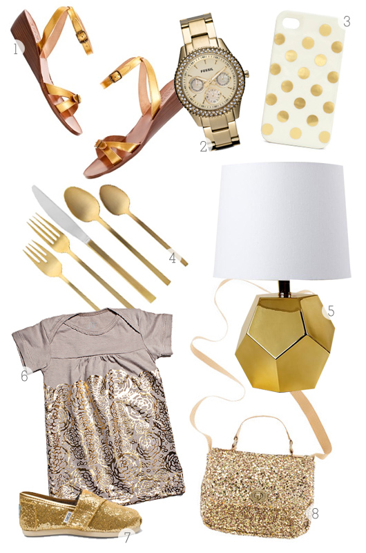 gold inspiration board